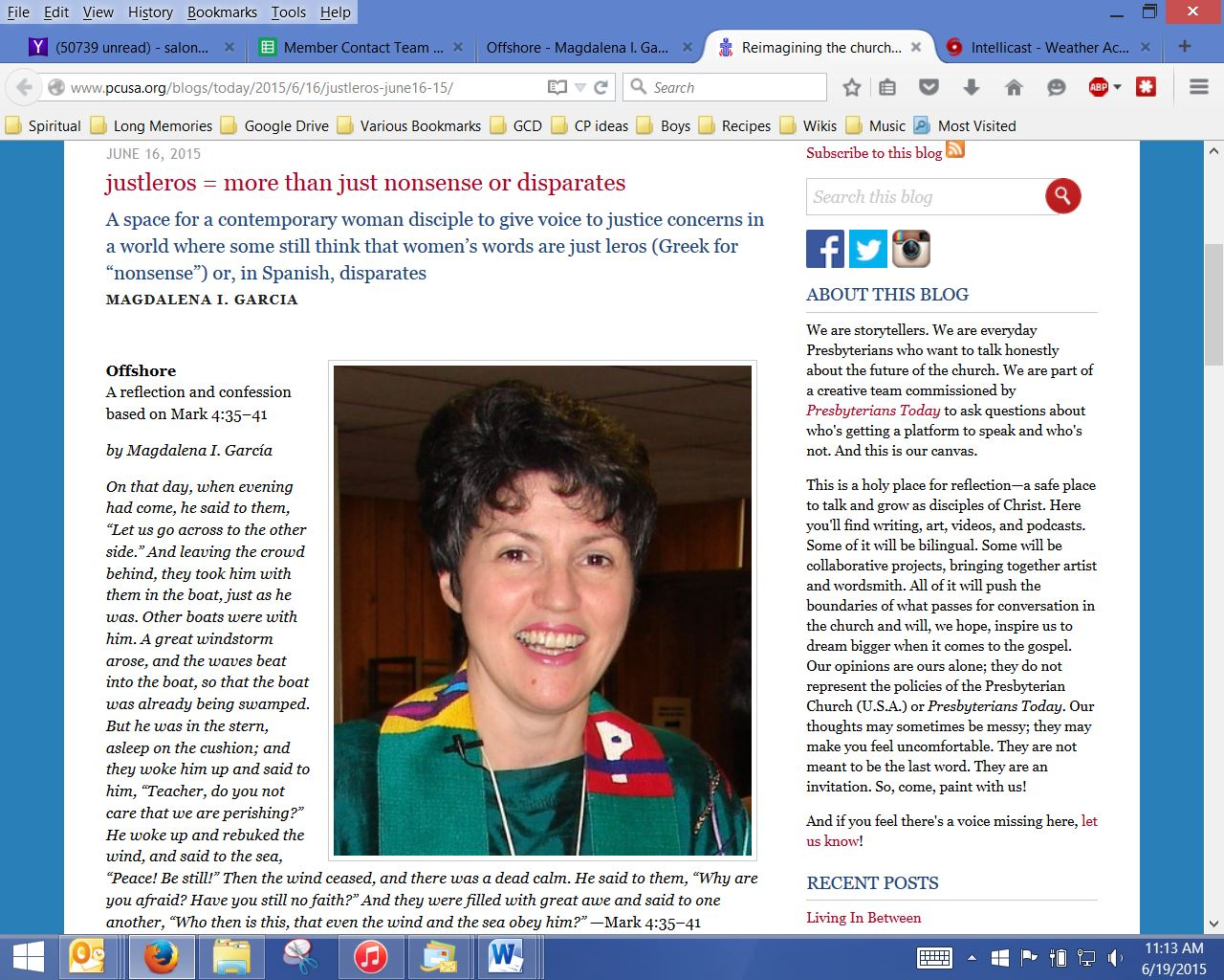 Offshore_Magdalena Garcia_Presbyterians Today_page1